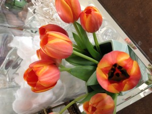 Tulips are my favorite, and my Sweetheart knows this...every time.